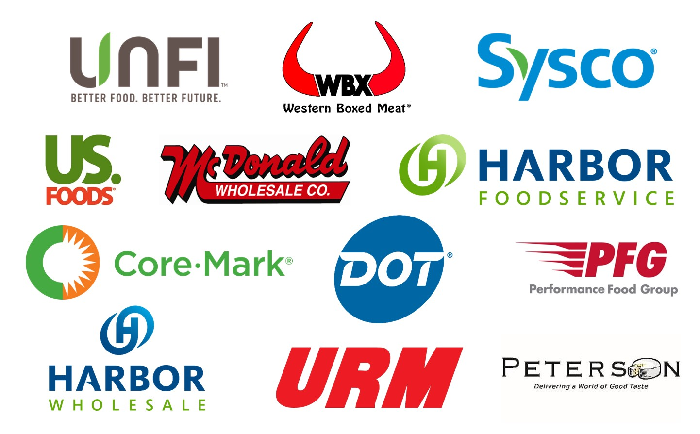 company logos of the distributors we work with